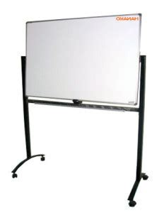Whiteboard Standing Pakai Roda 2 Muka Papan Tulis Berdiri jual whiteboard murah di pamulang hanakoboard