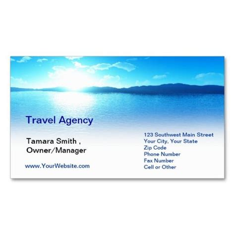 Travel Business Card Templates travel agency business card template