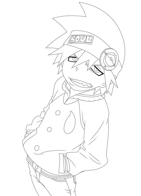 soul eater free colouring pages