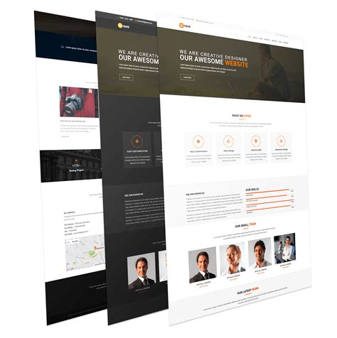 brave creative one page responsive joomla template
