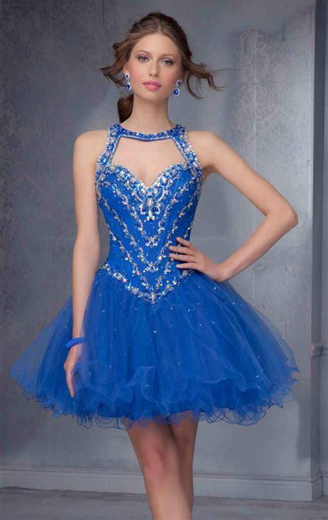 vestidos de 15 a os cortos decoraci 243 n de de 15 a 241 os azul de 90 ideas originales
