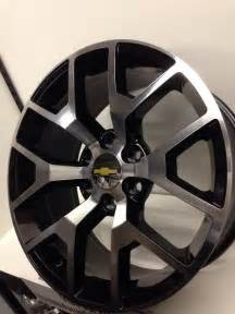 Truck Rims Canada Free Shipping 22 Inch Black Machined 2014 2015 Gmc Oe Wheels Silverado