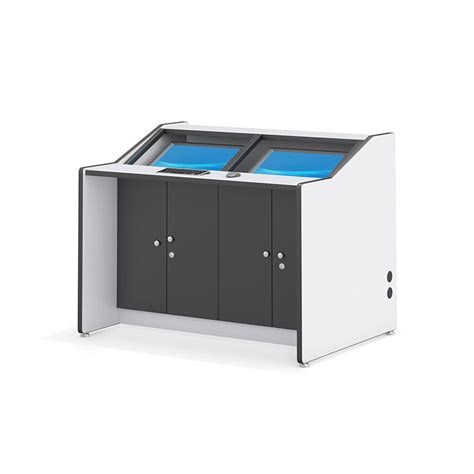recessed security monitor desk afcindustries