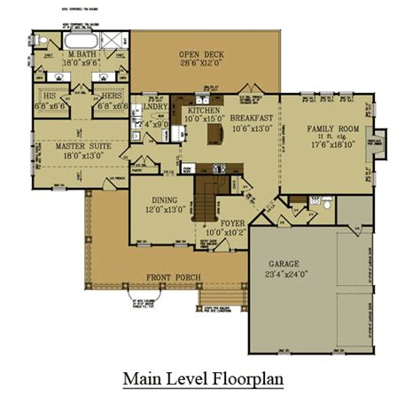 farmhouse floor plans 4 bedroom farmhouse floor plan master bedroom on main level