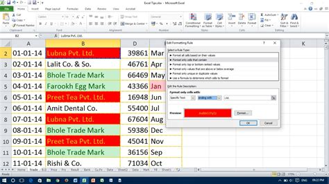 format text en excel how to highlight same words in excel excel conditional