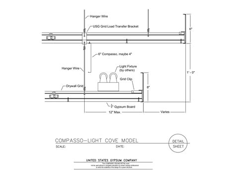 cove lighting section detail usg design studio lighting fixture download details