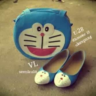 Sepatu Rajut Doraemon paket doraemon bag shoes sepatu wanita murah bandung