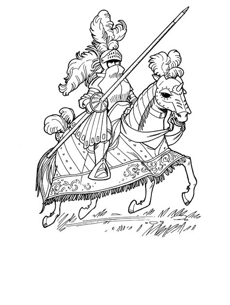 coloring pages knights jousting icolor medieval jousting 1416x1878 adult coloring