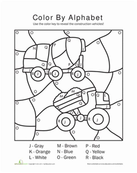 color by letter worksheets coloring pages kindergarten letters color by number
