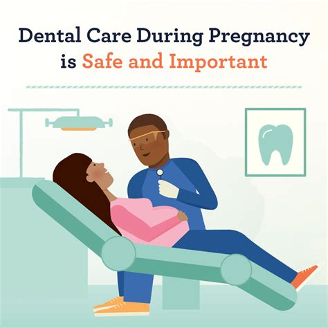 a message to health care professionals pregnancy infographic dental care is safe and important during