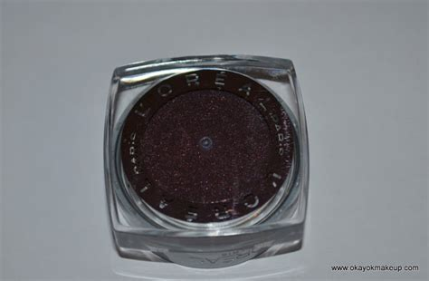 L Oreal Infallible Eyeshadow okay ok makeup review l oreal infallible eyeshadow in golden emerald and smoldering plum