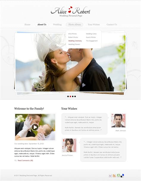 wedding website template 36299