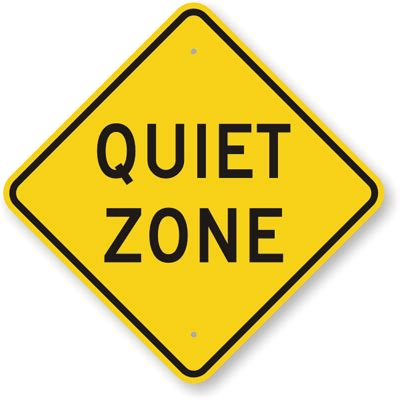 printable quiet signs quiet zone sign