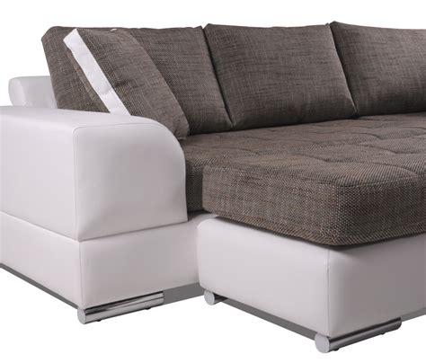 ottoman struktur husam sofa kunstleder weiss webstoff grau ottomane rechts