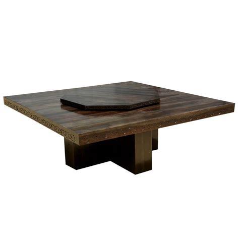 modern pedestal dining table modern pioneer solid wood lazy susan pedestal dining table