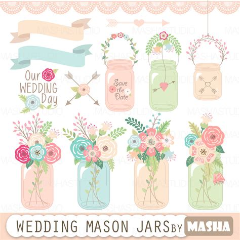 Jar Wedding Clipart by Jar Clipart Quot Wedding Jar Quot With Jar Clip