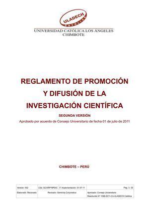 programa de investigacin y difusin la educacin calam 233 o reglamento de promocion y difusi 211 n de la