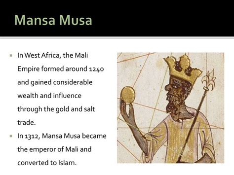 musa mansa of mali books ppt religion and culture in africa powerpoint