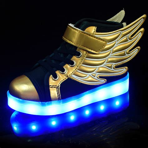 free light up shoes light up wing shoes usb charging