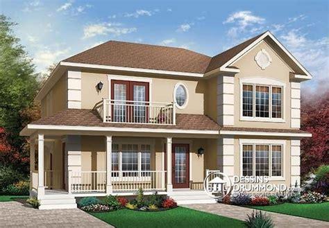 multi family home designs duplex de style europ 233 en no 3031 de dessins drummond