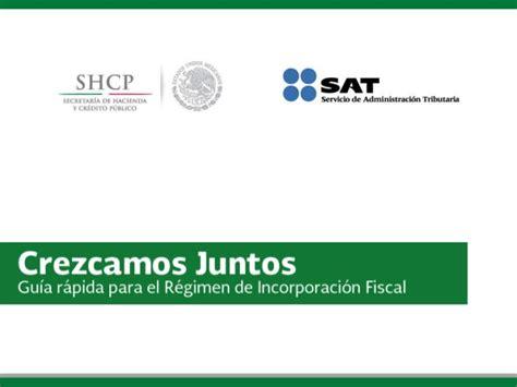 guia regimen de incorporacion fiscal 2015 slideshare gu 237 a r 225 pida para el r 233 gimen de incorporaci 243 n fiscal