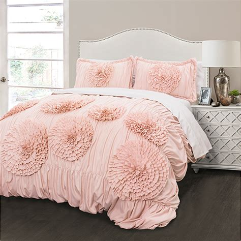 blush pink bedding lush d 233 cor 174 serena 3pc comforter set pink blush boscov s
