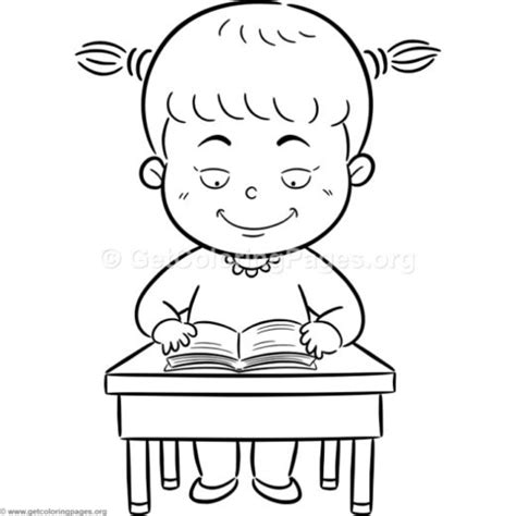 coloring page girl reading getcoloringpages org free coloring pages to download