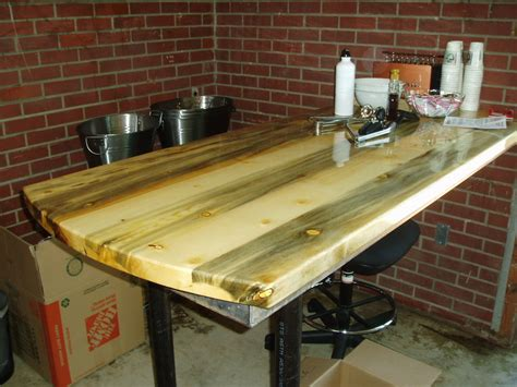 beetle kill pine dining table and countertop by