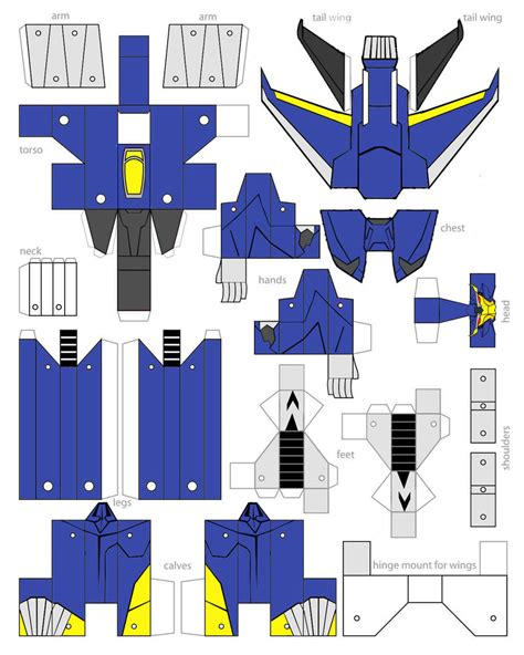 papercraft transformers prime dreadwing by minibot gears