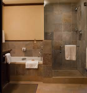 Open Shower Bathroom Design Rustic Bathroom Design Idea With Open Shower And Alcove