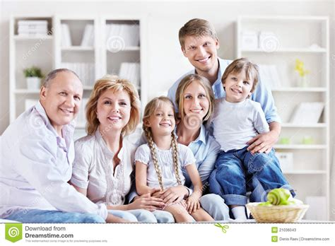 family at home stock image image of home