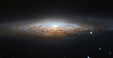 nasa space pictures hubble spies a spiral galaxy edge on nasa