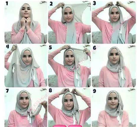 tutorial hijab paris modern simple tutorial cara memakai hijab modern paris 2016