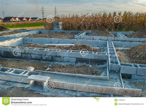 steps in building a house new house foundation construction stock image image