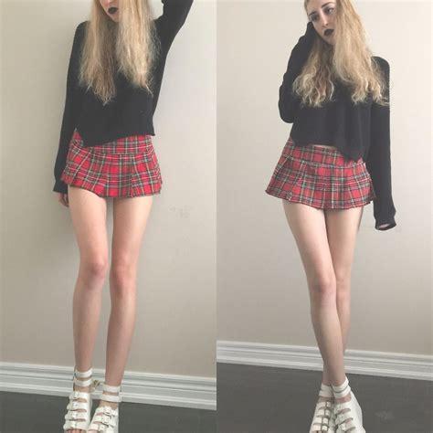 Eva Hazen Urban Outfitters Black Sweater, Schoolgirl Skirt, Y.R.U Platforms SchoolGirl