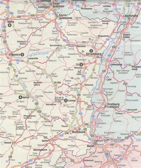 Motorrad Regionen Deutschland by Landkarte Elsass Vogesen Hanzeontwerpfabriek