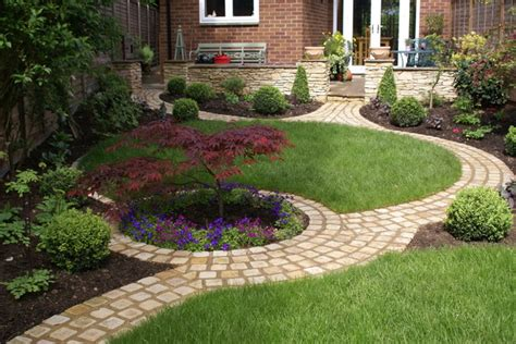 circular garden rustic landscape south east by