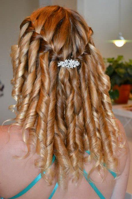 hairstyles braided with curls waterfall braid hair styles