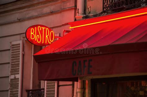 bistro awning french bistro sign and awning stock photo image 48519608