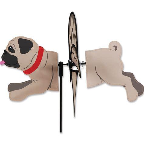 pug novelties pug garden wind spinners fawn