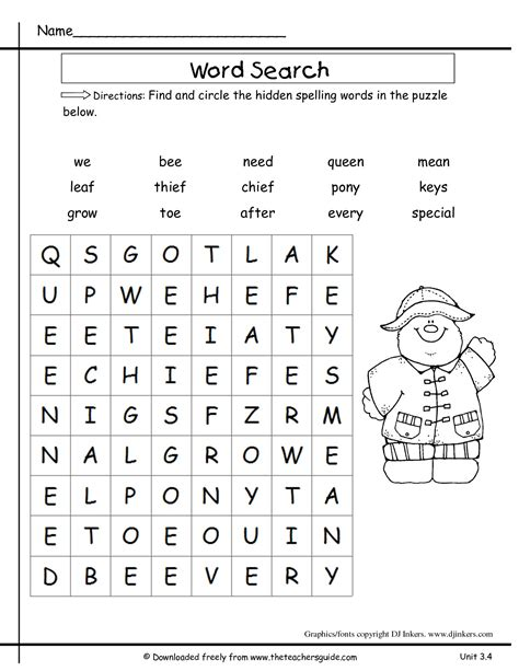 printable word games 2nd grade nobby design word searches for 2nd graders wonders second