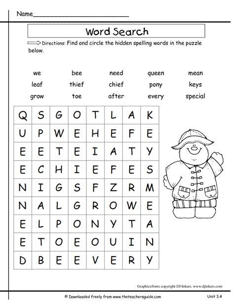 grade phonics worksheets kids activities