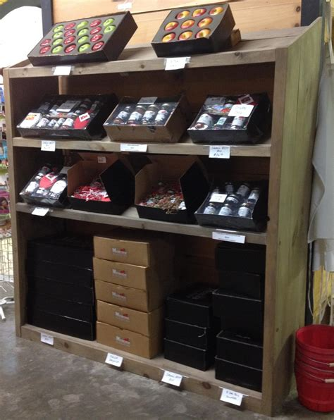 Produce Shelf by Rustic Wood Retail Store Product Display Fixtures