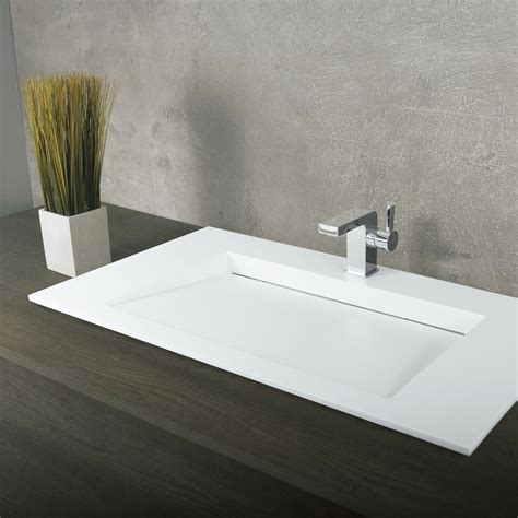 Bathroom Sinks Top Mount by Dax Solid Surface Rectangle Single Bowl Top Mount Bathroom