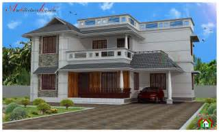 4 room house architecture kerala four bed room house plan