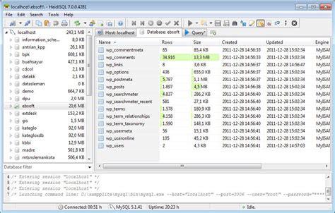 membuat database heidisql kelola database mysql mudah dan cepat dengan heidisql ebsoft
