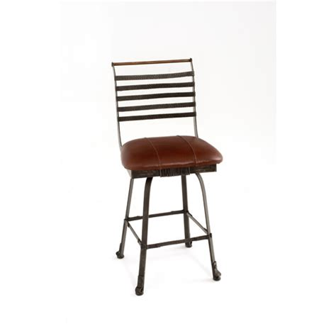 dining room bar stools steel traditions chandler swivel barstool with leather