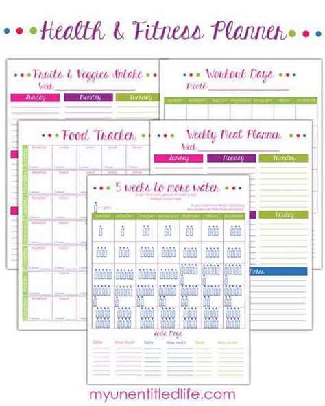 printable food and exercise planner weight loss tracker form for your renewed efforts in 2016