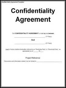 confidentiality agreement template free word templates