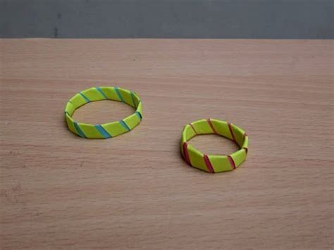 How To Make Paper Ring - how to make a paper fancy ring easy tutorials